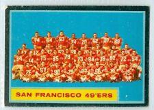 San Francisco 49ers 1962 Topps '62 Vintage Football Card #163 EXMT Team Photo