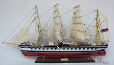 Kruzenshtern - Krusenstern four-masted Barque Handcrafted Wooden Ship Model