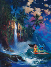 "Art Quality Canvas Print Anime Lilo and Stitch Kauai Dream Home Decor 16""x20"""