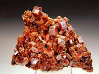 "3.3"" Large Vanadinite Crystals on Matrix,Mibladen Morocco!V265"