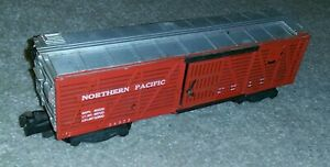 PIG PALACE American Flyer 24077 NORTHERN PACIFIC red stock box car Needs decal
