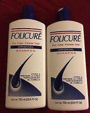 (2) Bottles FOLICURE ORIGINAL SHAMPOO FOR FULLER THICKER HAIR 23.6 oz.Shampoo