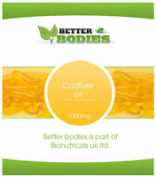 High Strength Cod Liver Oil 1000mg 365 Capsules Bulk Offer FREE UK DELIVERY