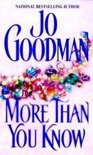 More Than You Know Jo Goodman Mass Market Paperback