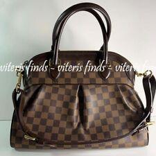 Authentic Louis Vuitton Trevi PM Damier Ebene Canvas Leather Tote Bag