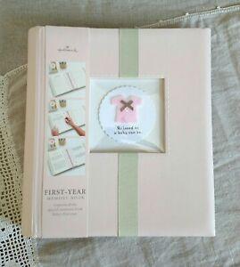 HALLMARK Baby's First Year Book Girl Infant Keepsake Photo Album NEW UNUSED