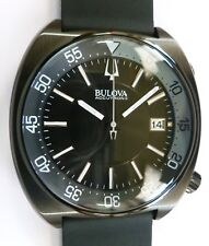 Bulova Accutron II - ION-PLATED BLACK SNORKEL - Bracelet & Barton Rubber - NEW