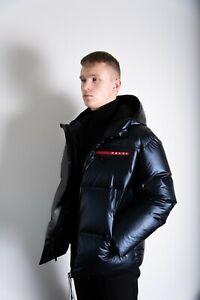 Prada Light Nylon hooded puffer jacket