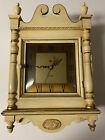 Vintage NUTONE Telechron Wooden Clock Door Bell Chime Clock 1960 s Cream Gold