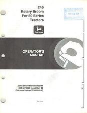John Deere 246 Rotary Broom Operator'S Manual for 50 Series Tractors jd