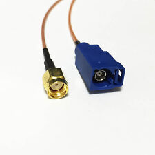 """RP SMA male plug to Fakra C female jack pigtail cable RG178 6"""" for GPS extension"""