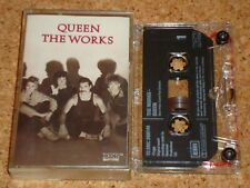 QUEEN - The Works - cassette tape album - XDR issue, clear shell