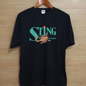 wrestling sting wcw black t-shirt US standard size