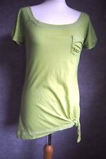 T Shirt 8 10 | Green Ripped T Shirt With Tie At Waist | Hollister