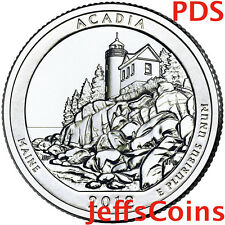 2012 P&D&S ACADIA NATIONAL STATE PARK QUARTER SET MS 25 CENT US MINT PDS ATB N83