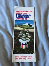 More details for 1972 us open golf championship 72nd order of play course map @pebble beach usa