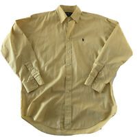 Polo Ralph Lauren Blake Long Sleeve Button Front Shirt Men's Size M Solid Yellow