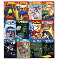 DC Super Heroes Collection Superman Batman Wonder Woman Flash 12 Books Set New