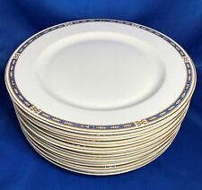 Syracuse China OPCO MISTIC Blue Dinner Plate Set of 9