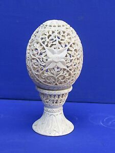 Marble Stone Candle Stand Egg design handicraft Lamp gifts handicraft Home Decor