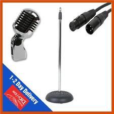 Micrófono de estilo retro Vintage Elvis y correspondiente soporte del micrófono & XLR de plomo