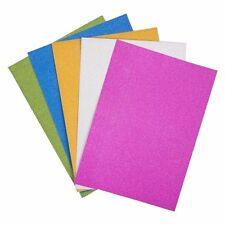 10 feuilles de A4 qualité Paillettes carte couleurs assorties