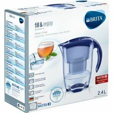 BRITA Elemaris Cool MAXTRA+ Plus 2.4L Water Filter Fridge Jug + Cartridge - Blue
