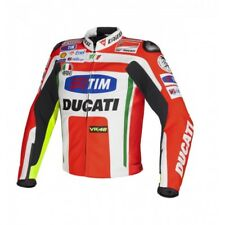 DUCATI ROSSI MOTORBIKE RACING LEATHER JACKET CE APPROVED
