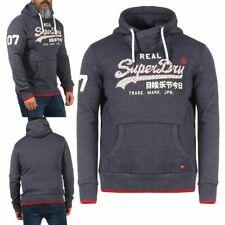 Superdry Herren Vintage Logo Neon Hoodie Sweatshirt Kapuzenpullover Navy Neu