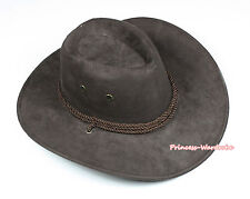 Teen Adult Size Chocolate Brown Rope Western Cowboy Hat Cattleman Unisex Costume