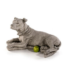 Pitbull Hund Tierfigur Steinfigur Skulpturen Gartenfiguren Deko 772868