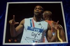 Tyson Gay 12x16 Foto Firmada aftal/uacc