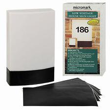 """Micromark bajo Voltaje Red Eléctrica Exterior Puerta Casa Número O Nombre"""" Placa"""