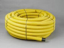 Yellow Twinwall Duct x 50m coil for Gas pipe 63mm (50mm int) Ducting