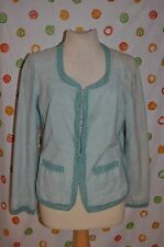 ETCETERA womens size 12 RIVIERIA SUEDE leather JACKET CHIC dressy  Nwt $495