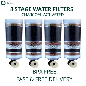 Aimex 8 Stage Water Filter Cartridges Charcoal Activated KDF 4 Water Filters