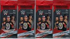 (4) 2017 Topps WWE Wrestling Trading Cards New Retail 21ct. FAT PACK LOT