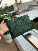 Gennuine Crocodile Leather Handbag Clutch Bag Purse, Clutch Wristlet Wallet