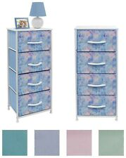 Nightstand Chest 4 Drawers Bedside Dresser Furniture for Bedroom Office Organize