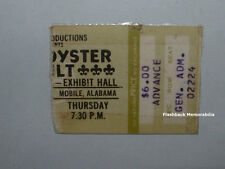 BLUE OYSTER CULT / RUSH 1977 Concert Ticket Stub MOBILE EXHIBIT HALL Rare B.O.C.