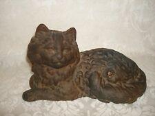 Vintage Cast Iron Persian Cat Doorstop Decorator Piece Cat Door Stop Decoration