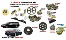 FOR HONDA ACCORD 2.2 CDTI N22A1 2003-2008 TIMING CAM CHAIN KIT + OIL PUMP CHAIN
