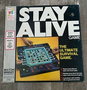 Vintage Milton Bradley STAY ALIVE Game Marble Drop COMPLETE 1971