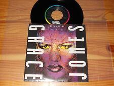 GRACE JONES - LOVE ON TOP OF LOVE / EEC VINYL 7'' SINGLE 1989 MINT-