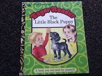1975 The Little Black Puppy Little Golden Book RARE  Vintage BEAUTIFUL Hardcover