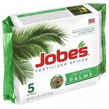 Jobe's Palm Tree Fertilizer Food Spikes, Outdoor, 5-Pack, 1010, New