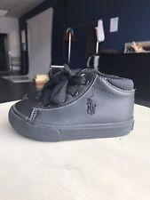 Ralph Lauren Polo High Top Black Sneakers Size 6