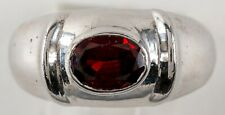 Natural Garnet Ring in Solid 925 Sterling Ring Size 9