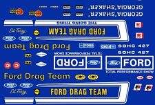 Official FORD Drag Team Mustang 1/24th - 1/25th Scale Decals Georgia Shaker
