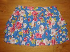 """Girls Johnnie b BODEN Teen Floral Frill Skirt Blue Rose Print Large Waist 32""""-34"""